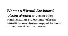Do you already have one!? Contact us, we would like to be your VA www.assist4web.com