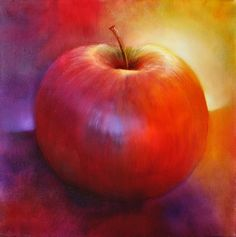 painting of a still life Apple Painting, Pet Birds, Still Life, Fruit, Deco, Animals, Canvas Paintings, Wealth, Drink