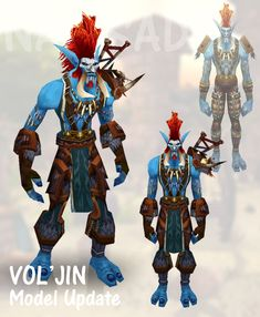 Yeah i know Vol'Jin got an update in Cataclysm, gearing up for the assult on the darkspear isle and all. But working on the Sylvanas Machinima i felt like i didn't want to use the new model for his...