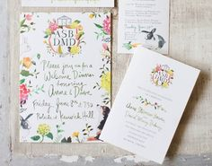 This invite shows us how to correctly combine handwritten and digital fonts.   The 25 Most Beautifully Illustrated Wedding Invites