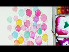 How to Paint Balloons with Watercolors for Beginners | Easy and Simple way - YouTube
