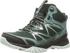 Merrell Women's Capra Bolt Mid Waterproof Hiking Boot, Pine Grove, 7.5 M US -- Check this awesome product by going to the link at the image.