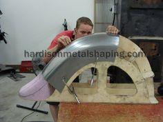 Sheet Metal Shaping and Custom Fabrication Sheet Metal Tools, Sheet Metal Work, Metal Projects, Welding Projects, English Wheel, Custom Metal Fabrication, Metal Shaping, Metal Bending, Metal Forming