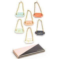 Decanter Tags, Set of 6