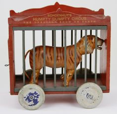 "SCHOENHUT 12"" CAGE WAGON : Lot 1706 Not altoid"