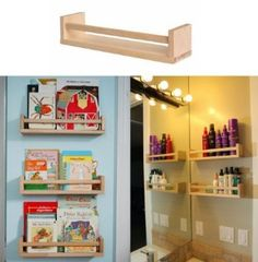 IKEA Wooden Spice Rack Book Shelf Bathroom Storage Holder Kitchen Craft | eBay