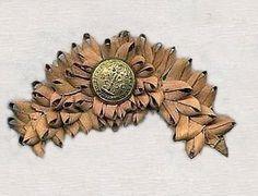 Cockade (Rosette) made of palmetto leaves, South Carolina.