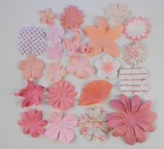 Prima Paper Flowers White and Pink Assortment No 324 Embellishments for…