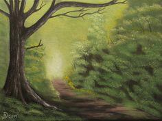 Bild  mystischer Wald  Originalgmälde Neuware  auf Künstlerleinwand