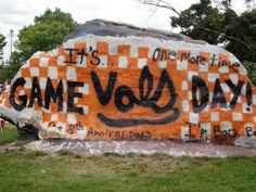 Go Vols! The Rock at University of Tennessee Campus in Knoxville Tennessee!