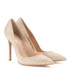 Gianvito Rossi Glitter Pumps ($325) ❤ liked on Polyvore