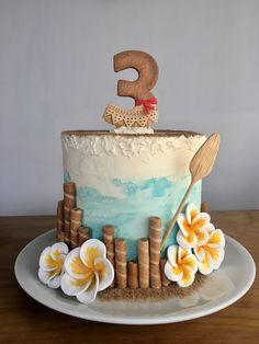 Moana Birthday Party Theme, Moana Themed Party, 3rd Birthday Cakes, Moana Party, Moana Theme Cake, Hawaiian Birthday, Luau Birthday, Birthday Ideas, Festa Moana Baby