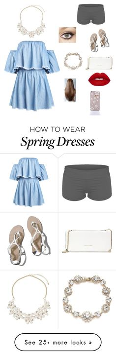 """Off the Shoulder Dress"" by athlete19 on Polyvore featuring Abercrombie & Fitch, Charlotte Tilbury, Trina Turk, Dorothy Perkins, Lime Crime and Marchesa"