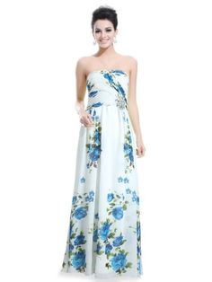 Ever Pretty Strapless Chiffon Floral Printed « Clothing Impulse