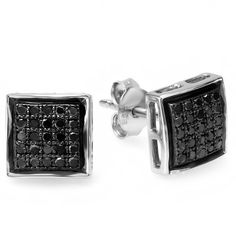0.25 Carat (ctw) Sterling Silver Black Round Diamond Ladies Mens Unisex Hip Hop Micro Pave Stud Earrings 1/4 CT DazzlingRock Collection. $69.00. Diamond Weight : 0.25 ct tw.. Diamond Color / Clarity : Black / Opaque. Crafted in pure 925 Sterling Silver. Has a stunning 0.25 Ct. Round Diamonds.. Gemstone : Diamond