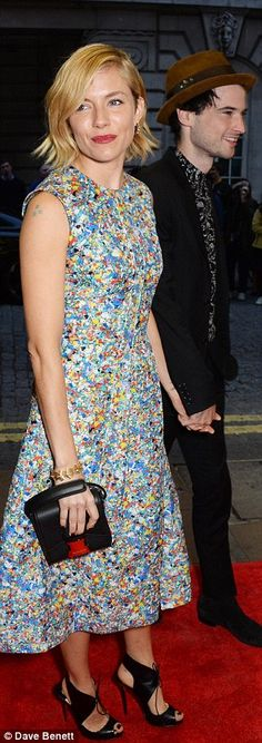 Sienna Miller in Roksanda dress, Christian Louboutin shoes - At the premiere of 'Effie Gray' in London.  (October 2014)