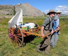 Pioneer Handcart Trek Resources Cowgirl Outfits, Cowgirl Clothing, Mormon Trail, Pioneer Clothing, Mormon Pioneers, Pioneer Trek, Summer Fun, Lds Quotes, Young Women