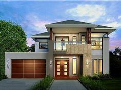 House Front Design, Modern House Design, Villa Design, Modern House Plans, House Floor Plans, 3d Home Architect, Morden House, Rendered Houses, Dream House Exterior
