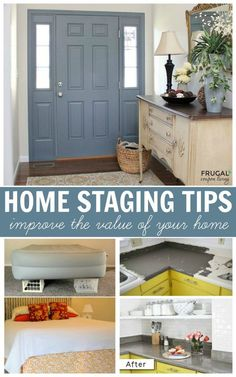 Home Staging Tips and Ideas - improve the value of your home before a sale by highlighting your home's strengths and downplaying its weaknesses. #sellingyourhousebyowner