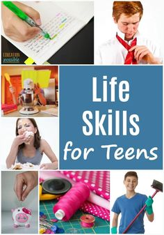 Once your kids start middle school, it's time to be intentional about adding life skills for teens to your homeschooling lesson plans. I know that your day is busy, but if you want confident, capable…More Life Skills For Children, Life Skills Lessons, Life Skills Activities, Life Skills Classroom, Teaching Life Skills, High School Activities, Lessons For Kids, Teaching Kids, Educational Activities