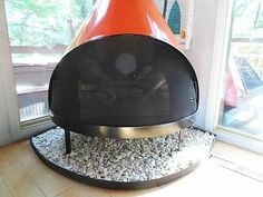 HEARTH ONLY for Retro Mid Century Mod Freestanding Cone Fireplaces Preway MALM