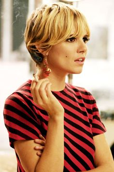 Sienna Miller provides pageboy cut inspiration as Edie Sedgwick in Factory Girl.