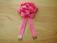 Tape Measure Rosette Pin - great garnish on a sewing gift