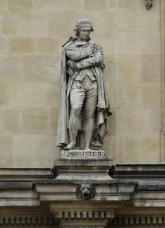 Antoine-Laurent de Lavoisier statue Louvre facade Paris