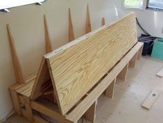 Remodeling couch to fold out into double bed.