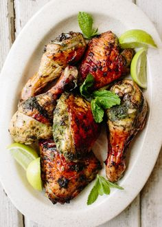 Green herb marinade for chicken
