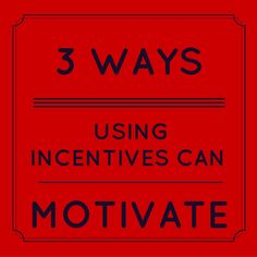 Knowing when and who to use incentives with can help you as a leader to coach and motivate your direct sales / network marketing consultants to create a successful business for themselves. By using incentives you will help motivate them to increase their productivity and profit which in this business means your productivity and profit increases as well. The 3 ways using incentives can motivate are: