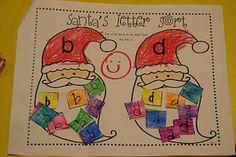 Mrs. Lee's Kindergarten: Santa's Letter sorting activity