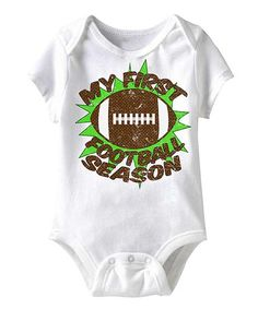 White My First Football Season Bodysuit - Infant | zulily