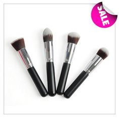 Online Shop Cheap makeup brushes 1PC Professional Ailunce Flat Top Synthetic Kabuki single cosmetics bamboo make up brush bamboo H1135A|Aliexpress Mobile