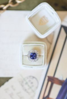 Sapphire Rings Vintage sapphire & diamond engagement ring from Trumpet & Horn // photo by a still breath, styled by bushel & peck Emerald Ring Vintage, Wedding Rings Vintage, Vintage Rings, Emerald Rings, Ruby Rings, Wedding Jewelry, Modern Engagement Rings, Diamond Engagement Rings, Sapphire Gemstone