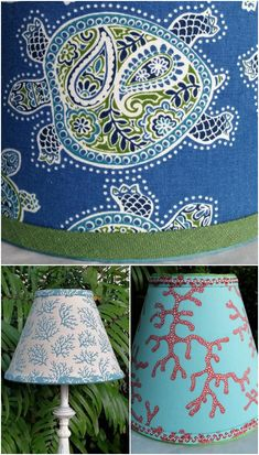 Renew an old lamp with a great coastal lampshades! A variety of coastal, beach and nautical theme lampsshades featured on Completely Coastal. Handmade lampshades and others. Nautical Lamp Shades, Nautical Lamps, Nautical Theme, Seaside Decor, Beach Cottage Decor, Coastal Decor, Coastal Fabric, Beach Furniture, Furniture Ideas