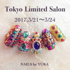 """ถูกใจ 486 คน, ความคิดเห็น 4 รายการ - nails-by-yuka (@yukamizz) บน Instagram: """"NAILS by YUKA @TOKYO 2017.3.21(tue)-24(fri) ------------------------------------- ✭時間応相談 *…"""""""