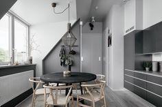 2 Gorgeous Attic Apartments That Use Grey As Base