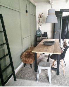 Binnenkijken bij jet Rustic Interiors, Kitchen Styling, Home Fashion, Interior Design Living Room, Interior Inspiration, Sweet Home, New Homes, Dining Table, Room Decor