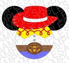 Disney Inspired Jessie Mickey Ears SVG DXF by MissAddisonsCloset