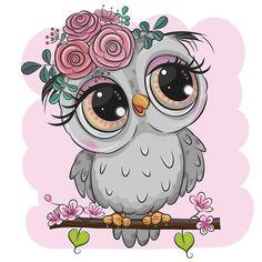 Cartoon Cartoon, Cartoon Owl Drawing, Cute Owl Cartoon, Cute Owl Drawing, Owl Art, Bird Art, Stitch Games, Branch Vector, Baby Posters
