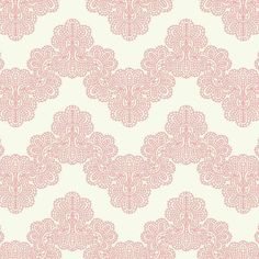 high end accent wallpaper option Airwaves Wallpaper in Soft Pink and White by York Wallcoverings