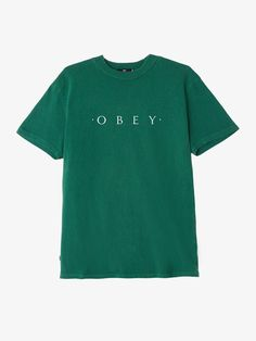Novel Obey Basic Pigment Tee Dusty Forest