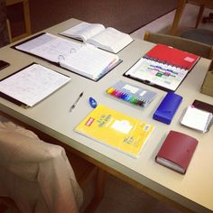 Organised studying.