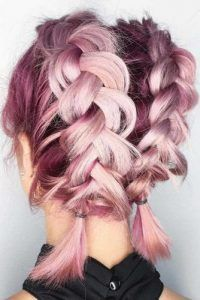 24 Cute Short Hairstyles For Valentine S Day Cute Hairstyles For Short Hair Braids For Short Hair Pink Hair