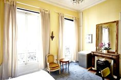 Apartment in Paris, France. This room is bright and airy with high ceiling, a small desk and plenty of storage space. The queen bed (140x190cm) is wide and comfy enough for 2. Please read our entire description before contacting me, thank you :)  We are happy to share our ap...