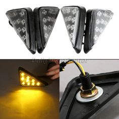 Motorcycle Amber 9 LED Sidemarker Flush Mount Turn Signal Indicator Blinker Light Motorbike Flasher Fairing Light Bulb For Honda-in Flashers from Automobiles & Motorcycles on Aliexpress.com | Alibaba Group