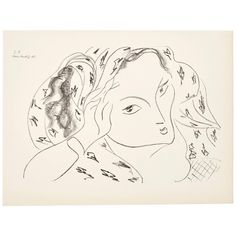 For Sale on - Lithograph / plate from the book Dessins: Themes et Variations. Edited by Martin Fabiani (Paris) in In good original condition. Matisse Drawing, French Paintings, Drawing Board, Henri Matisse, French Artists, Pablo Picasso, Line Art, Printmaking, Modern Art