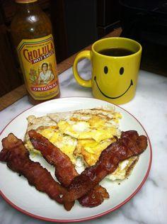 Paleobetic diet, low-carb breakfast