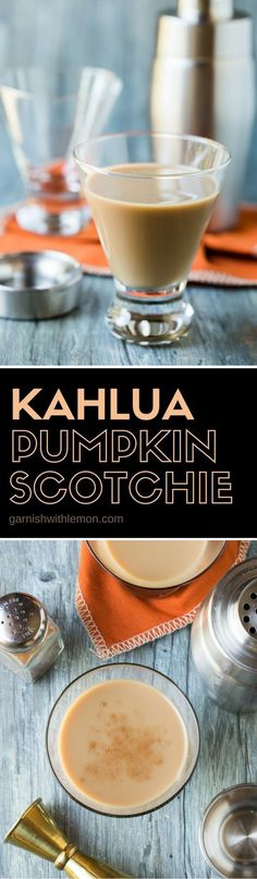 Need a new fall cocktail recipe? Try these irresistible Kahla Pumpkin Scotchies